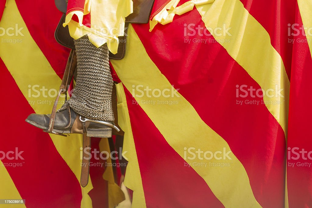 Jousting Detail royalty-free stock photo