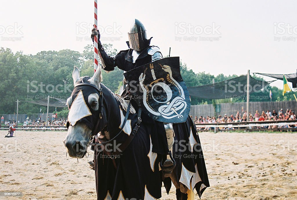 Jousting Knight royalty-free stock photo