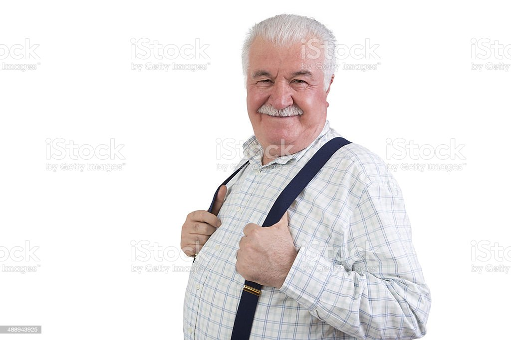 Jovial confident elderly man royalty-free stock photo