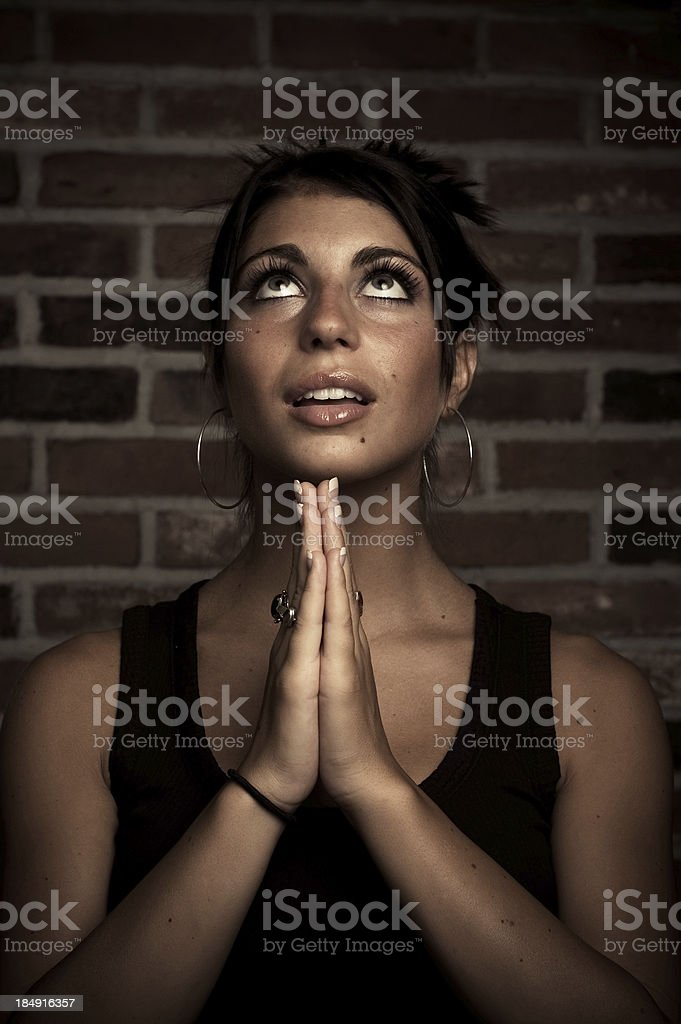 Joy in Looking to God royalty-free stock photo