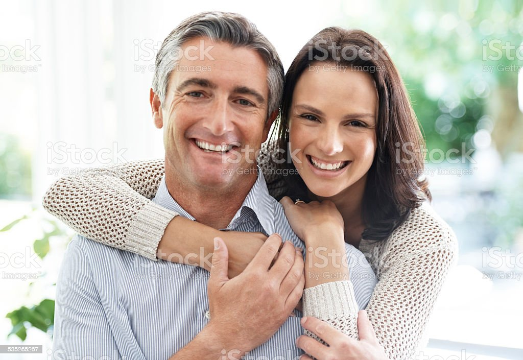 Joy is being with one you love stock photo