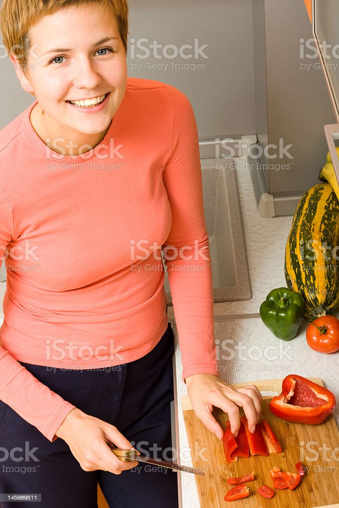Joy of cooking royalty-free stock photo