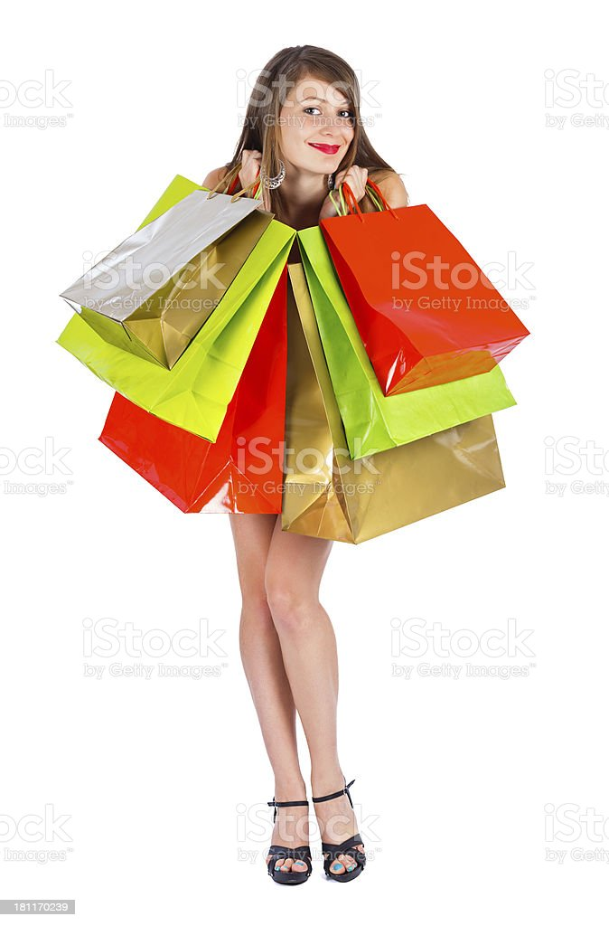 Joy of Spare Time - Shopping royalty-free stock photo