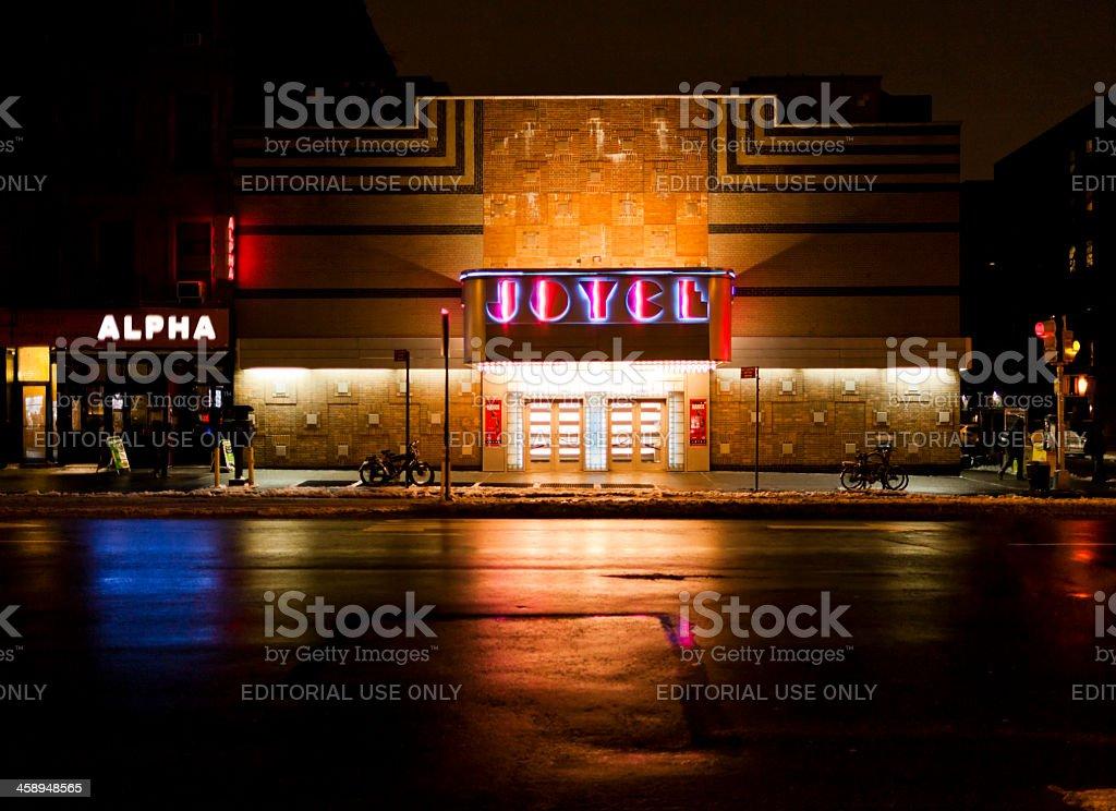 Joyce Theatre at night New York stock photo