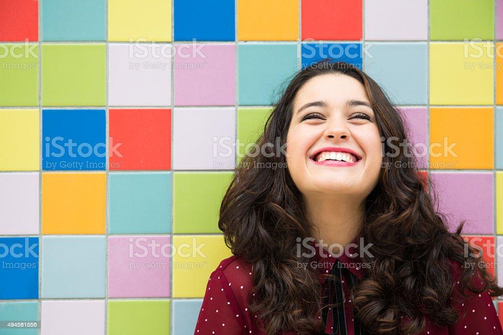 Joyful and optimistic girl stock photo