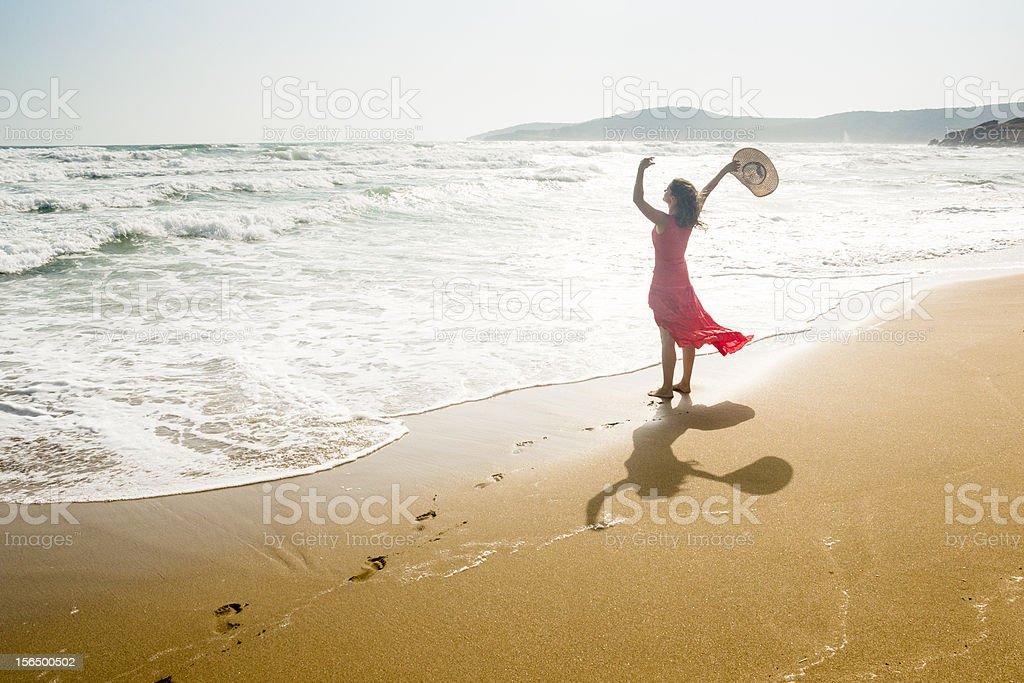 Joyful beach royalty-free stock photo