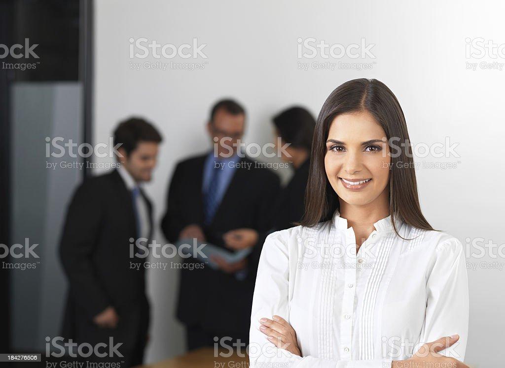 Joyful business woman royalty-free stock photo