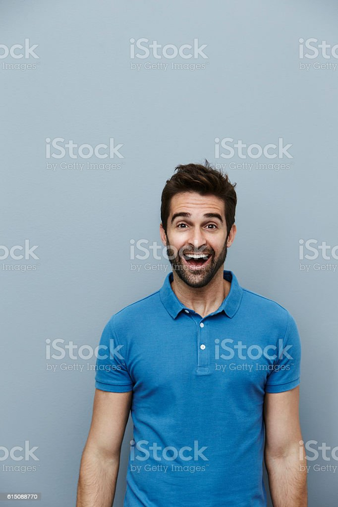Joyful dude stock photo
