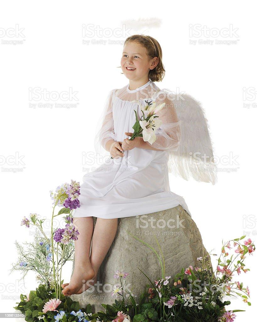 Joyful Easter Angel stock photo