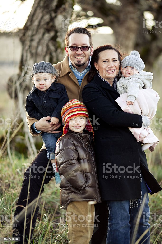 Joyful Family royalty-free stock photo