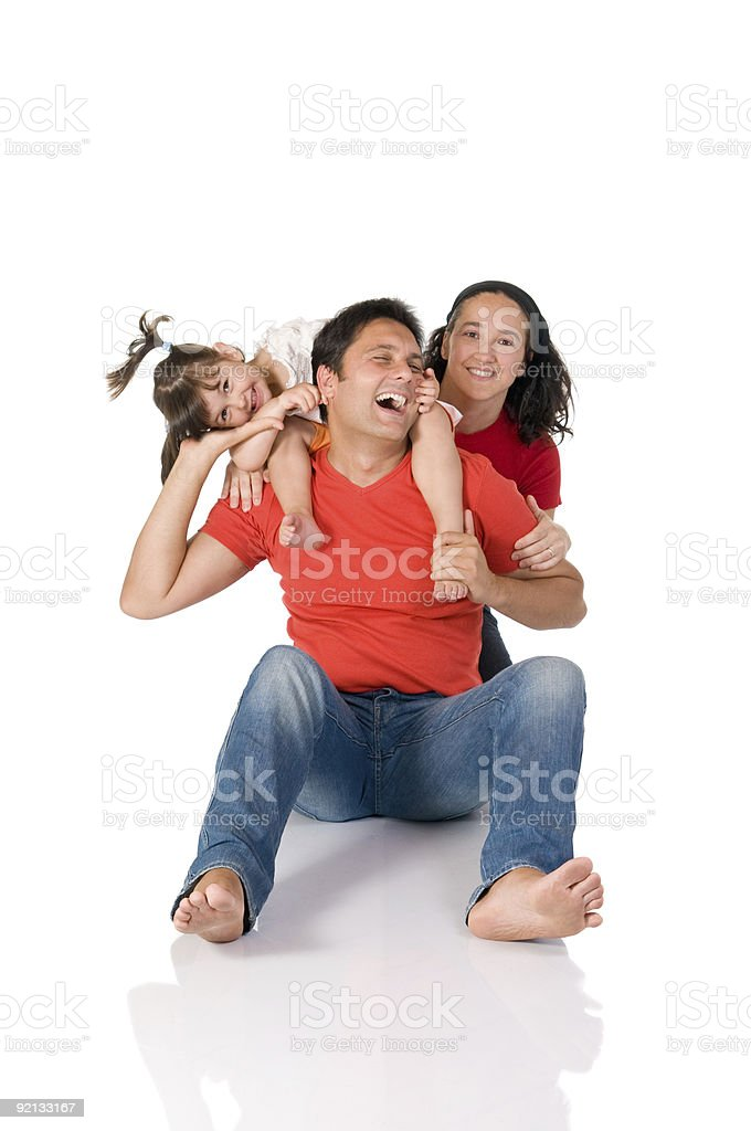 Joyful family royalty-free stock photo