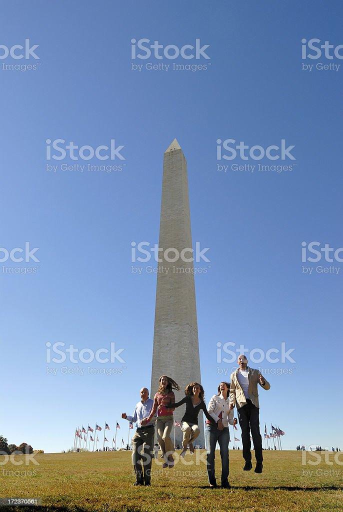 Joyful Family Tourists royalty-free stock photo