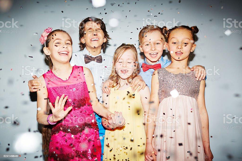 Joyful friends stock photo