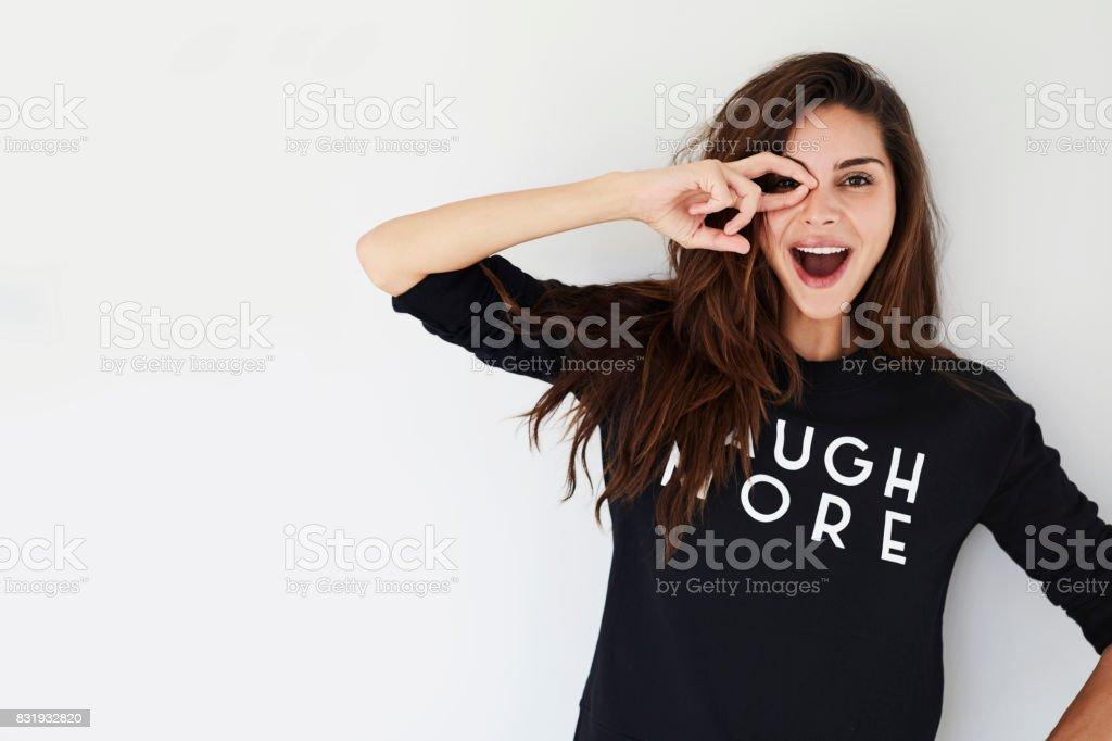 Joyful girl stock photo