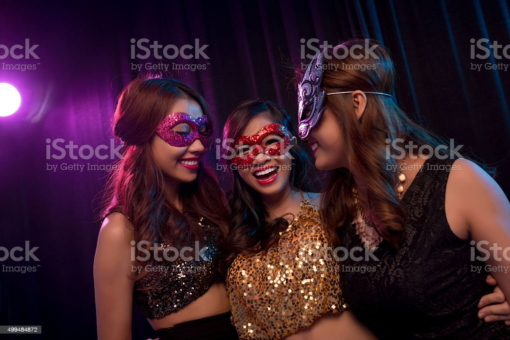 Joyful girls stock photo