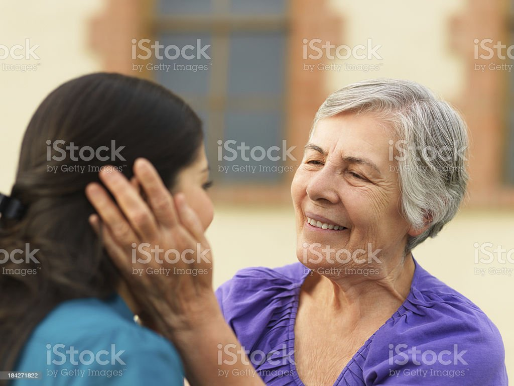 Joyful grandmother royalty-free stock photo