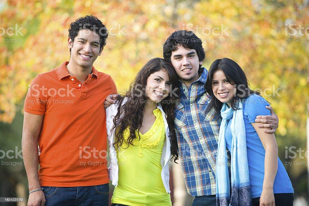 Joyful group of friends royalty-free stock photo