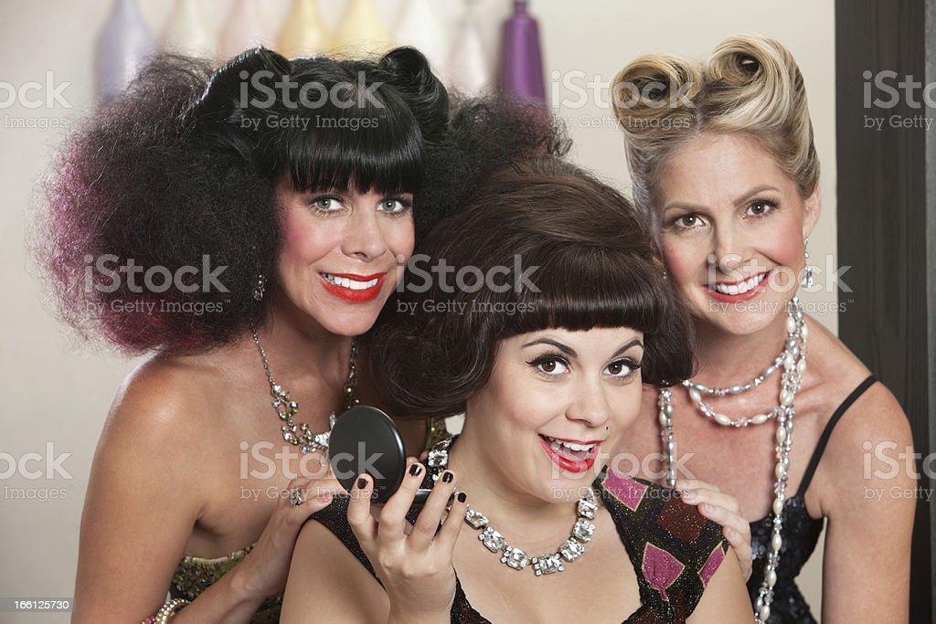 Joyful Ladies in Beauty Salon royalty-free stock photo