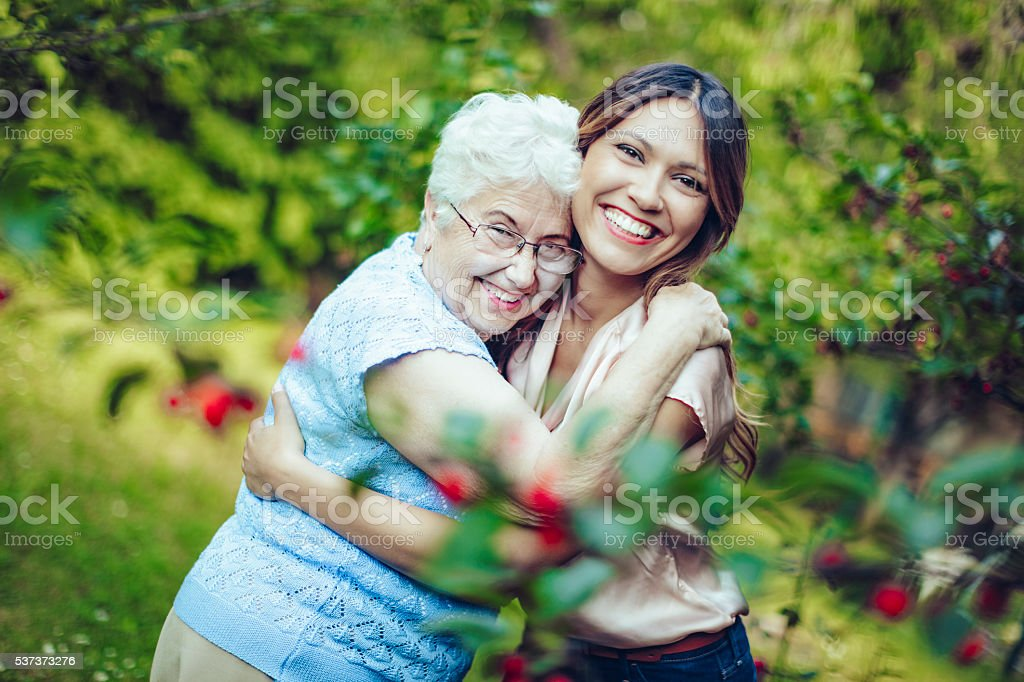 Joyful moment stock photo