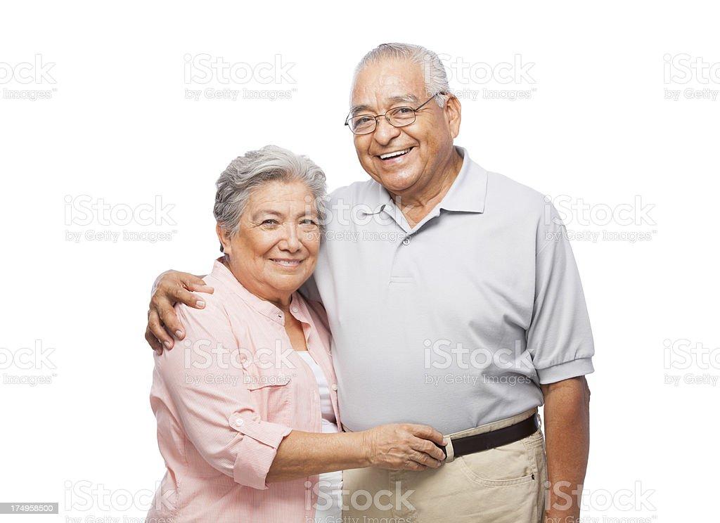 Joyful senior couple royalty-free stock photo