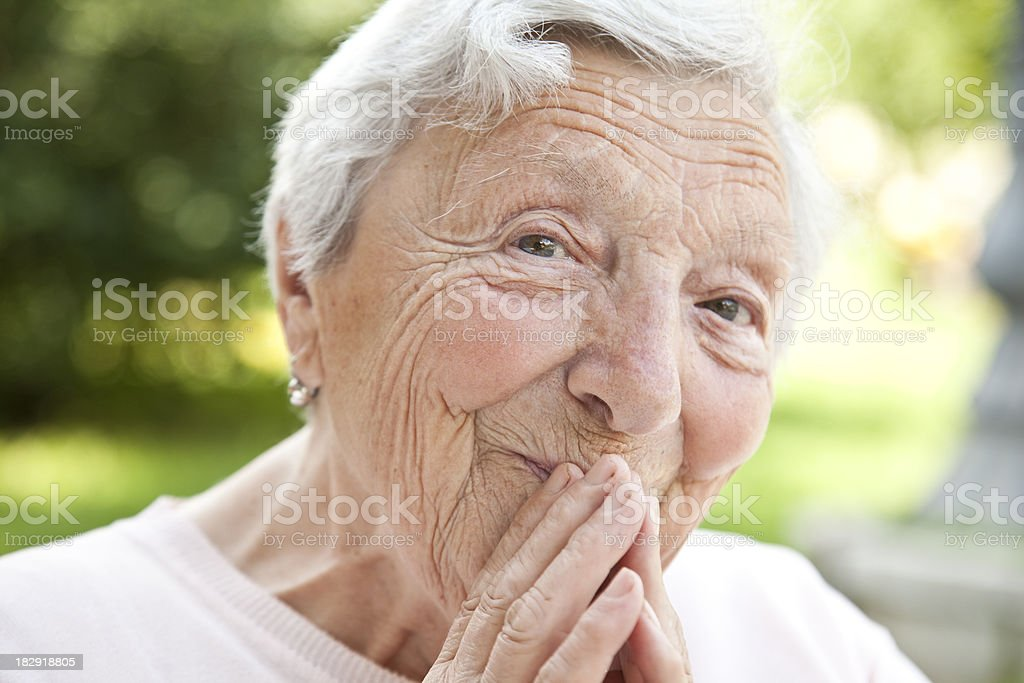 Joyful senior stock photo