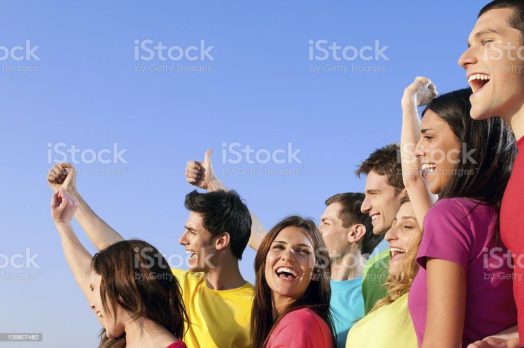 Joyful smiling friends royalty-free stock photo