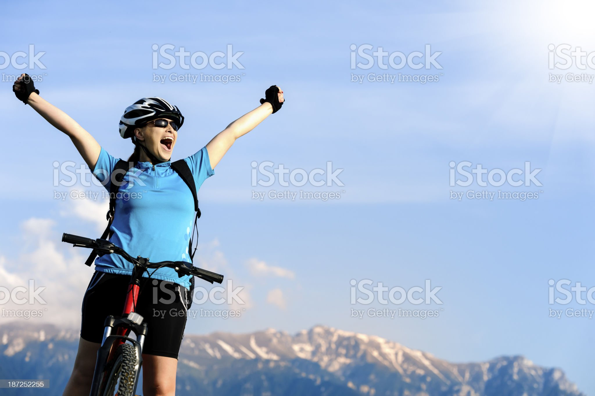 joyful sport woman royalty-free stock photo