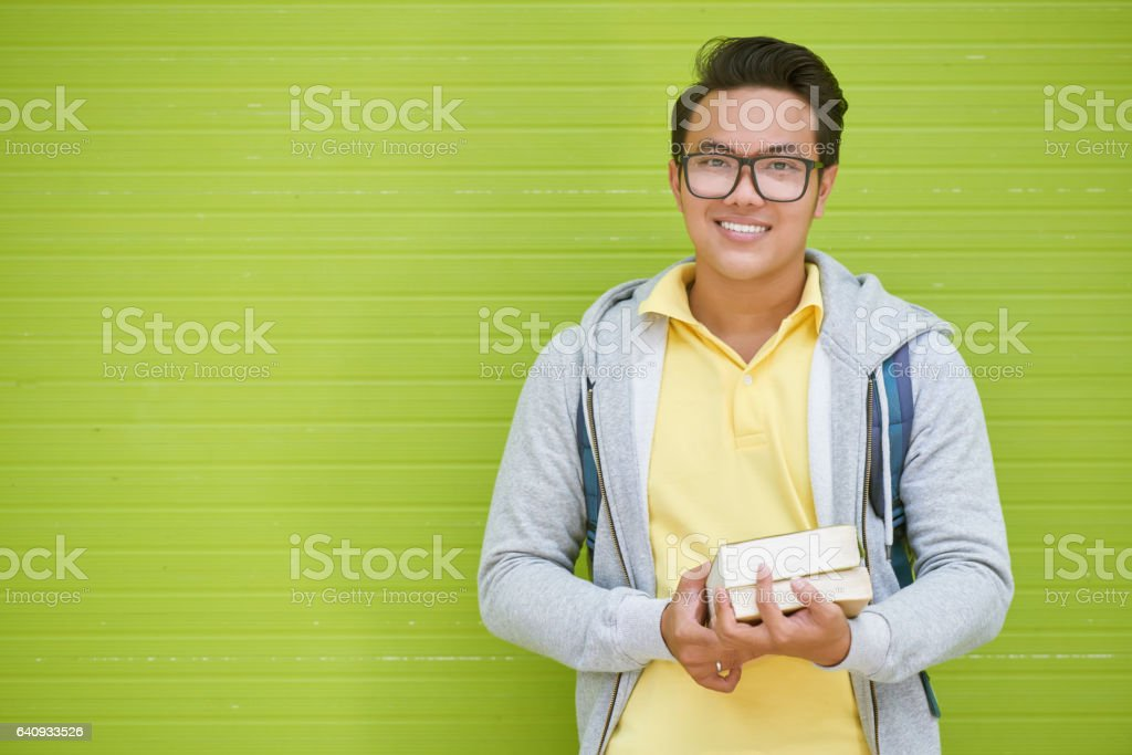 Joyful student stock photo