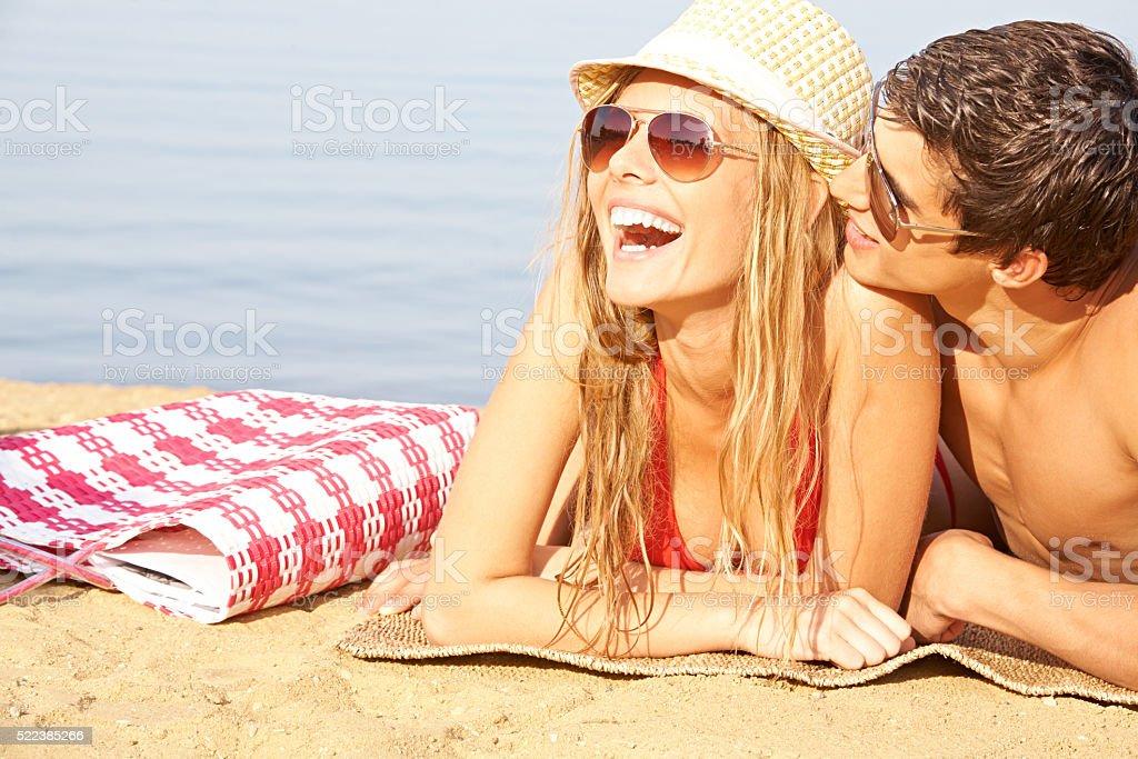 Joyful summertime together stock photo