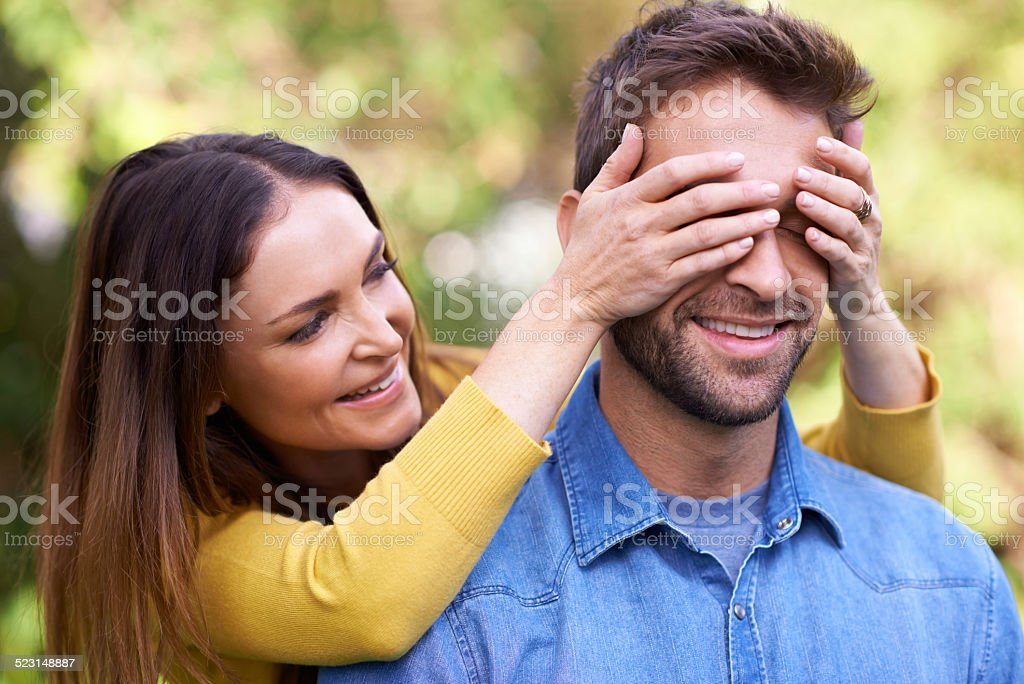 Joyful surprises stock photo