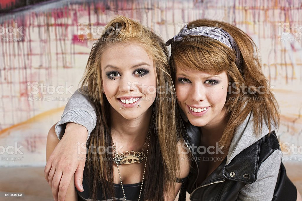 Joyful Teenagers royalty-free stock photo