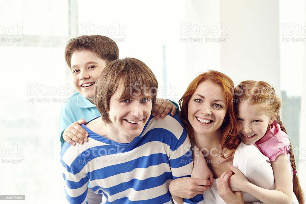 Joyful time together royalty-free stock photo