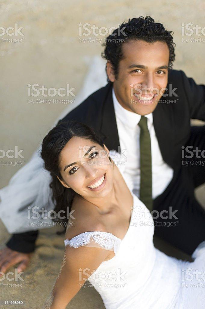 joyful wedding couple royalty-free stock photo