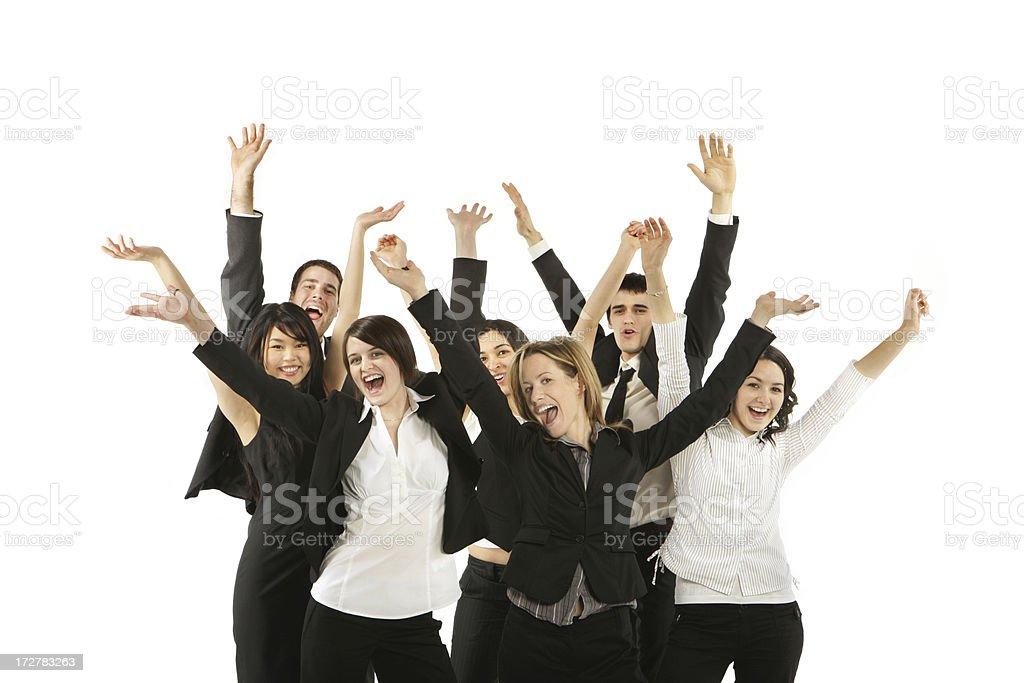 Joyful Young Business Group royalty-free stock photo