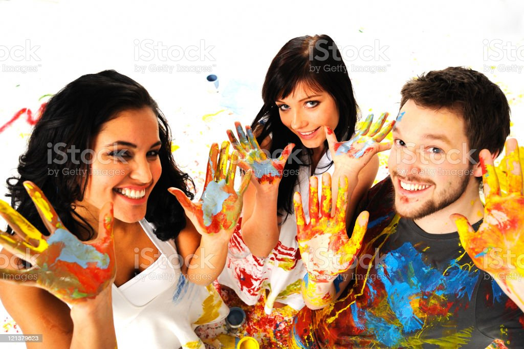 Joyful young people royalty-free stock photo