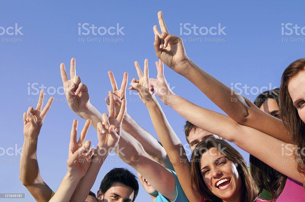 Joyful young people success royalty-free stock photo