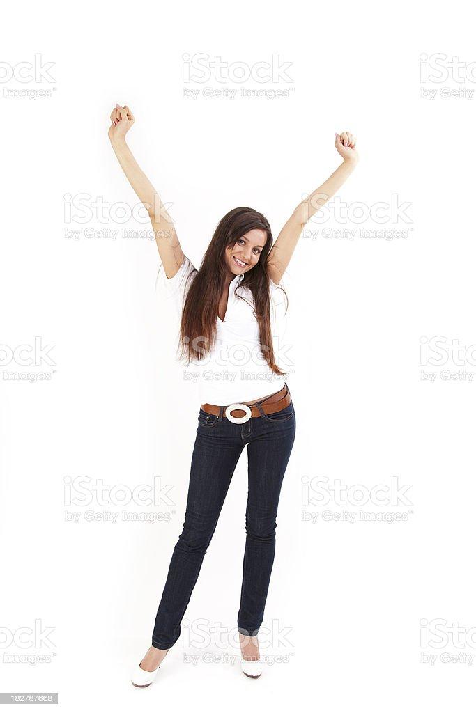 joyful young woman royalty-free stock photo