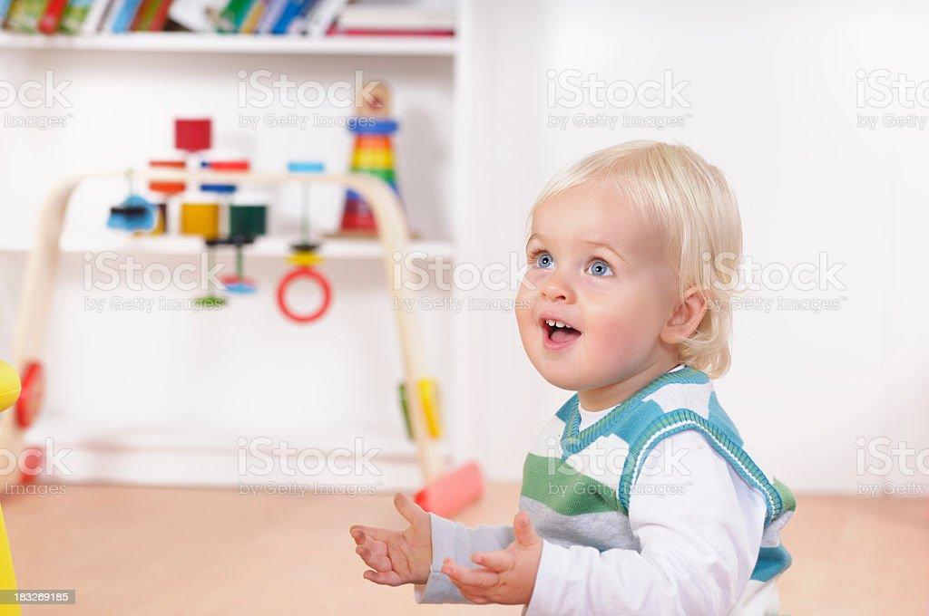 Joyfull Caucasian Baby Boy/ Toddler royalty-free stock photo