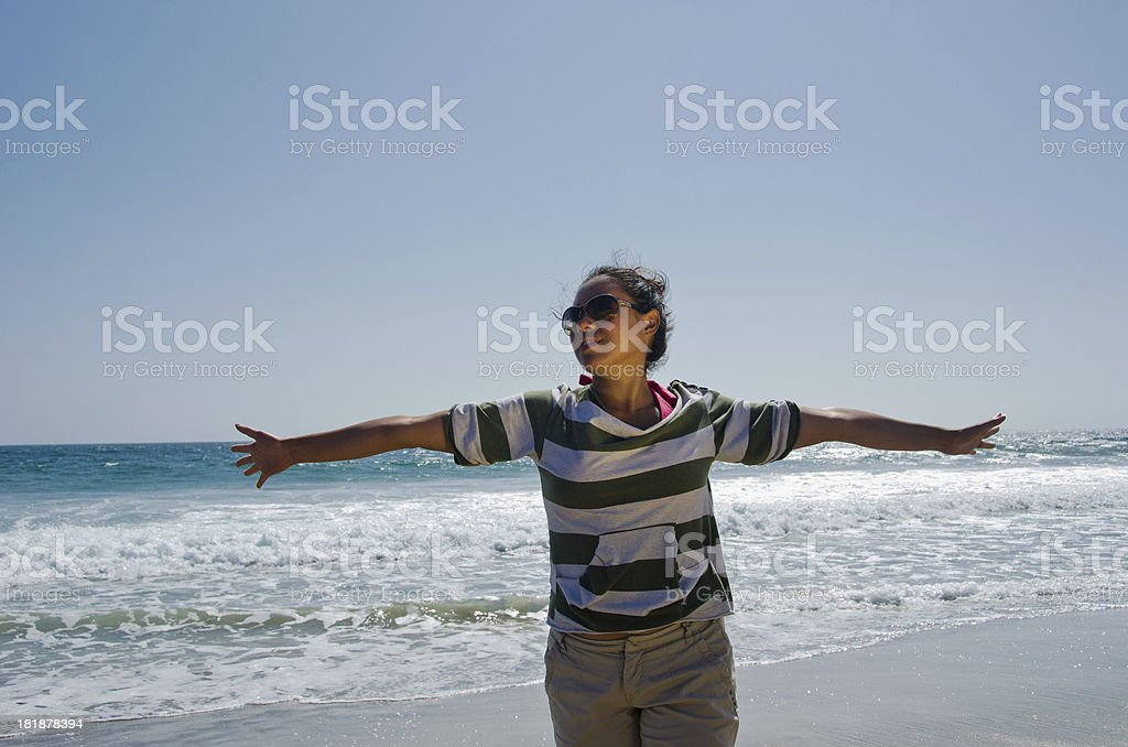 Joyous Hispanic Woman royalty-free stock photo