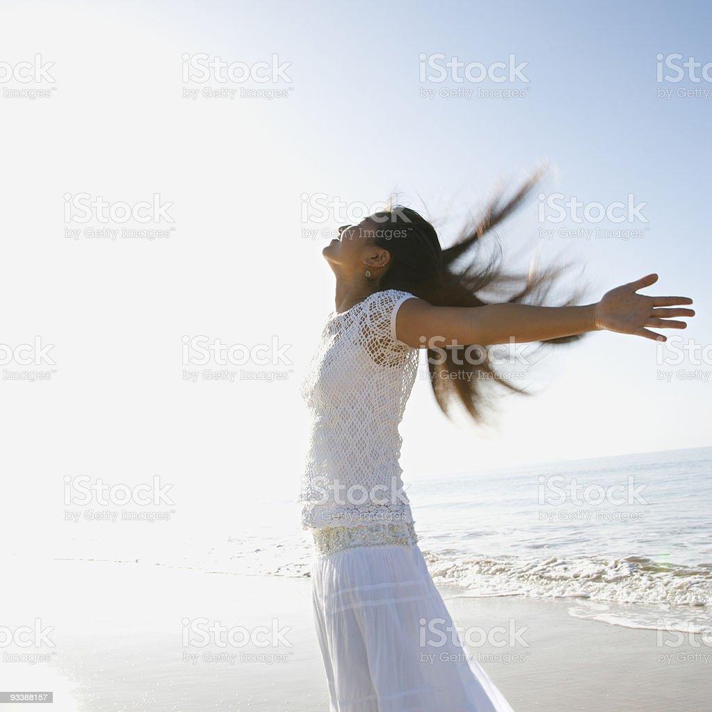 Joyous woman. royalty-free stock photo