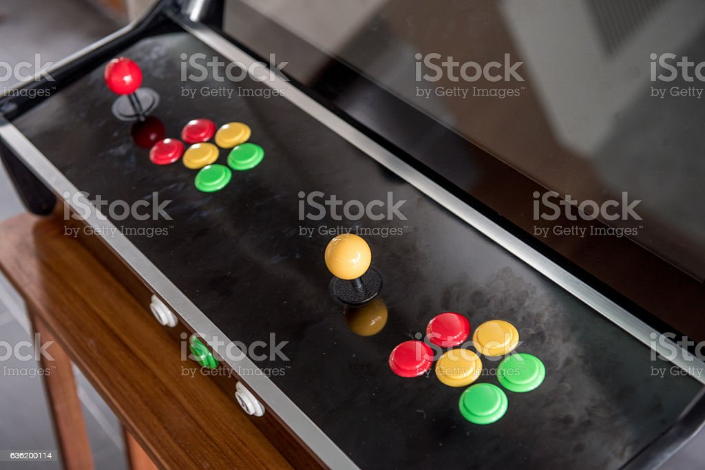 joystick and buttons stock photo