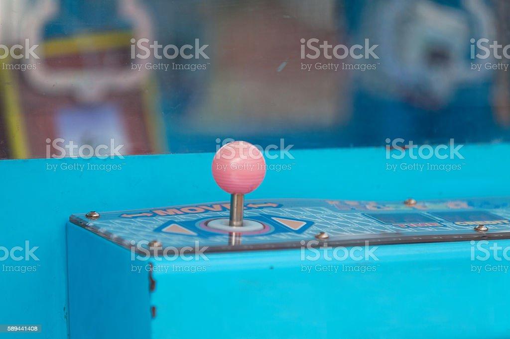Joystick of a Claw crane stock photo