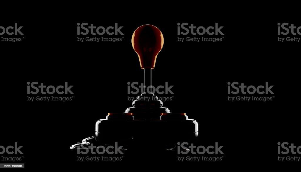 Joystick on black background stock photo