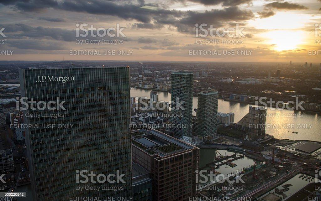 JPMorgan Europe Ltd headquarters, London stock photo