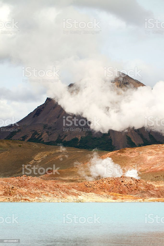 Jörundur volcano stock photo