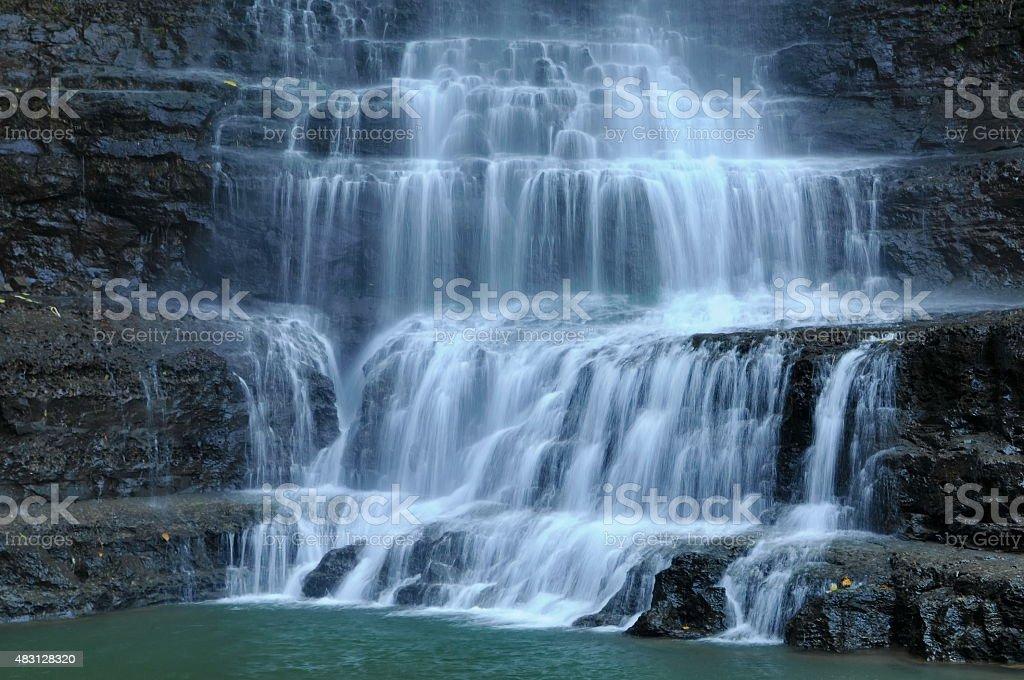 Juan Curi waterfall. stock photo