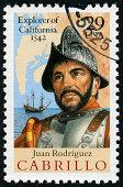 Juan Rodriguez Cabrillo, Explorer Of California Stamp