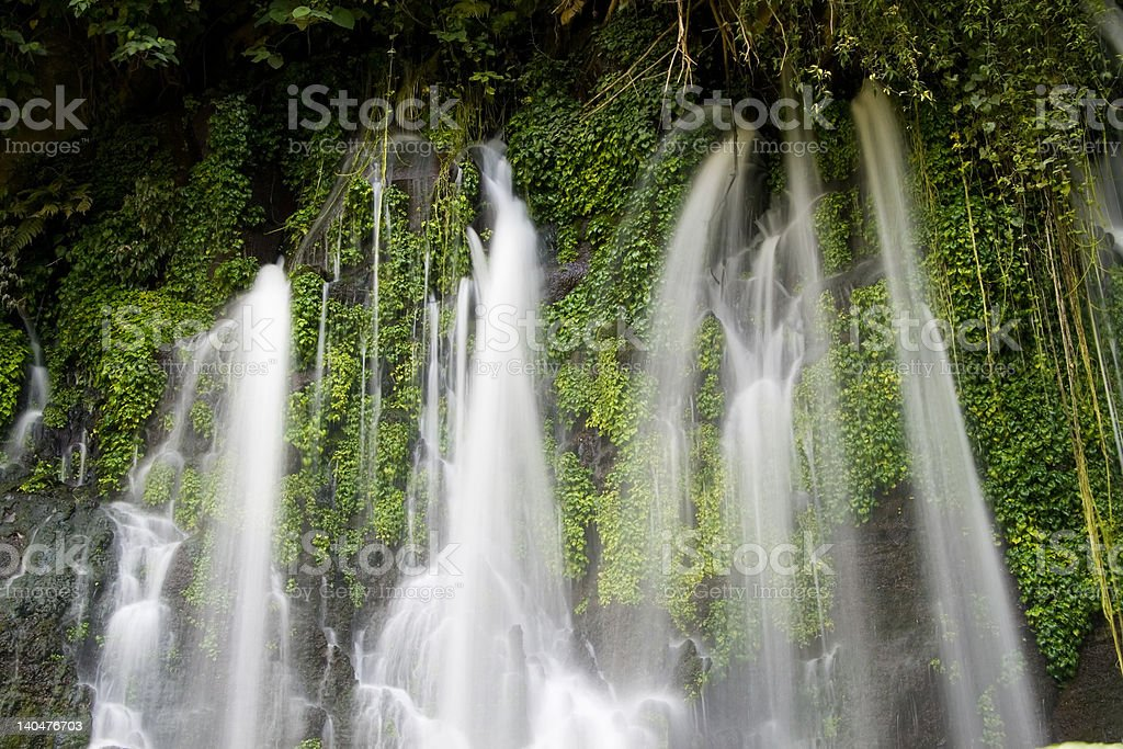 Juayua Waterfalls royalty-free stock photo