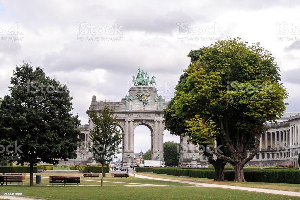 BRUSSELS, BELGIUM, jubelpark,, Triumphal Arch stock photo