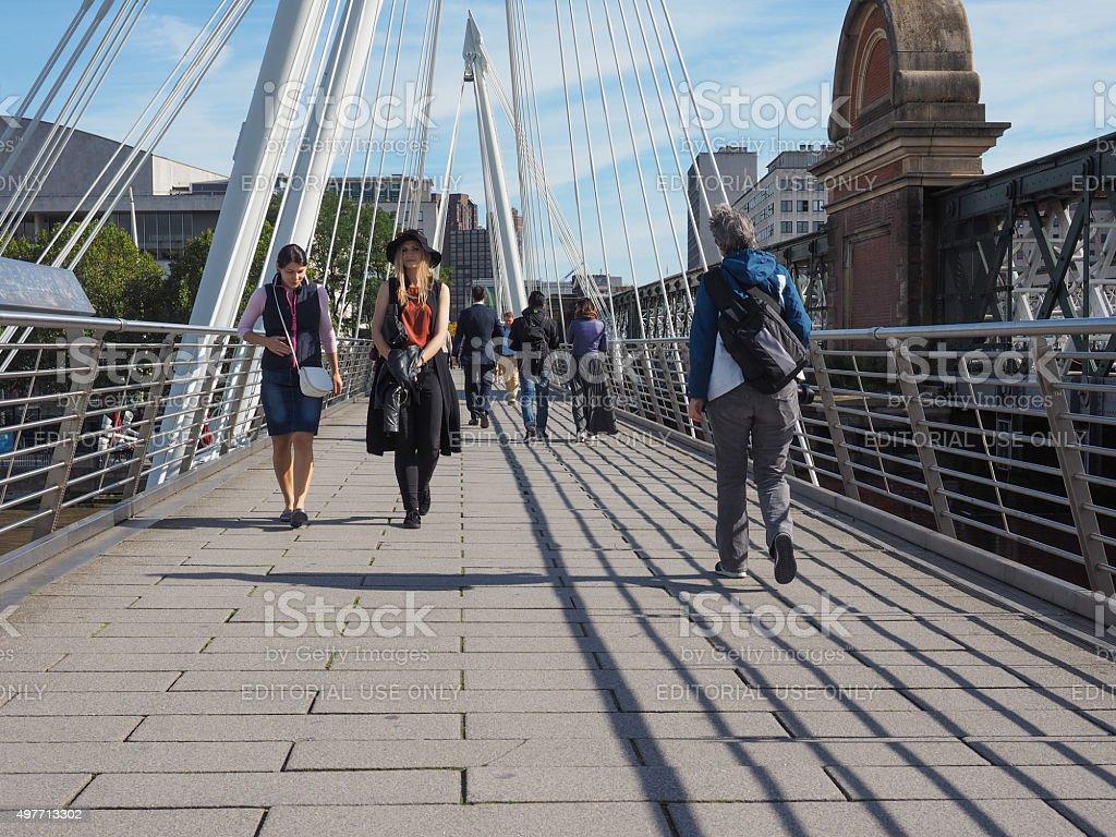 Jubilee Bridge in London stock photo